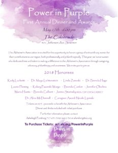 Brenda Colbert Honored at Power in Purple Event this May